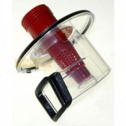 Compartiment sac aspirator DIRT DEVIL FLUX ROTATIF PRINCIPAL ZYKLONEINHEIT- FILTERSIEB- REFLEKTOR